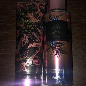 Vs velvet blooms noir lotion and mist set